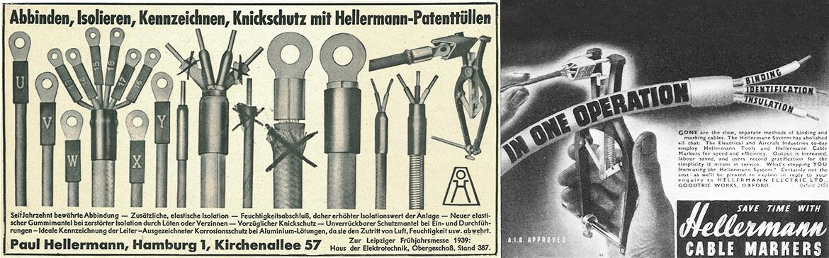 The Hellermann Binding System in advertising