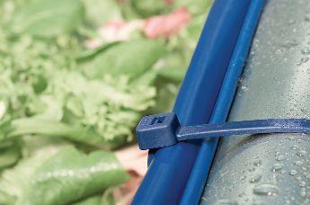 Обнаруживаемые кабельные стяжки очень популярны в пищевой и фармацевтической промышленности.