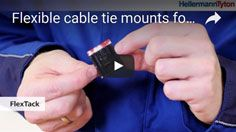 Cable Tie Mount FlexTack: for round and angled surfaces